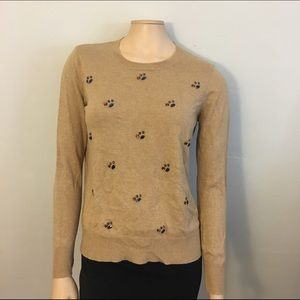 Merona Sweaters - Merona Camel Colored Crystal Embellished Sweater