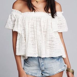 Free People Tops - Free People thrills and frills sweater