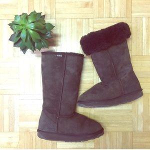 Emu Shoes - Emu Brown Sheepskin Tall Ugg Style Boots