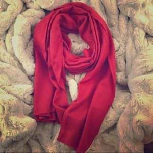 sears Accessories - Red Cashmere Like Scarf