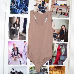 Tops - Nude One-Piece Bodysuit | Bodysuit Outfit Ideas