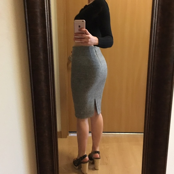 fd54c0f5660a H&M Dresses & Skirts - Gray H&M midi pencil skirt