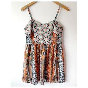 Band of Gypsies Dresses & Skirts - BAND OF GYPSIES tribal print minidress