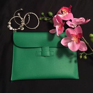 Emerald Green Envelope Clutch