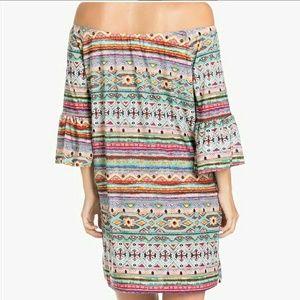 Off the shoulder tribal dress