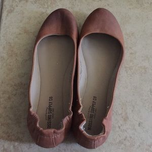Mossimo Brown Leather Ballet Flats
