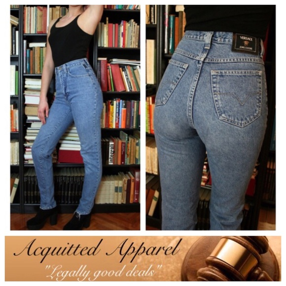 f288afedb3de9 Versace Vintage High Rise Jeans Mom Style. M 586305bbf739bc039919a014