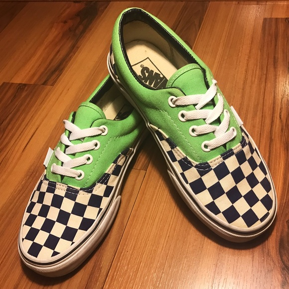 8e5d5a42f006 Vans Era Van Doren Checker Green Flash M5 W6.5. M 58630701eaf030ce8c19aa13