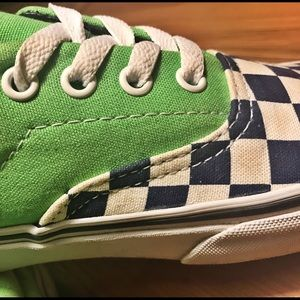 a9b1179193e8 Vans Shoes - Vans Era Van Doren Checker Green Flash M5 W6.5