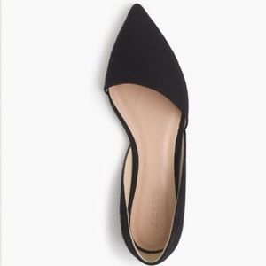 J. Crew Shoes - New in Box! J. Crew Suede D'Orsay Flats in black