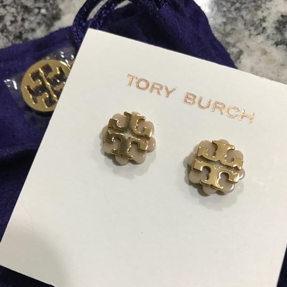 079c200fa Tory Burch Jewelry | Logo Flower Resin Stud Earring | Poshmark