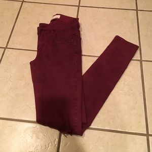 Garage Denim - Maroon Jeggings