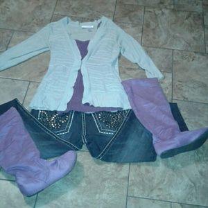 Shoes - Purple boots. Size 7.