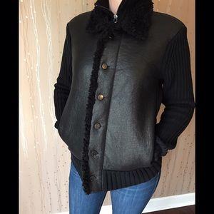 Armani Exchange Black Sweater Jacket