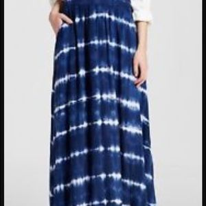 Merona blue/white Maxi Skirt