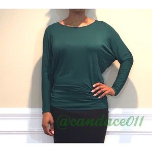Long Sleeved Dolman Top (Forest Green)