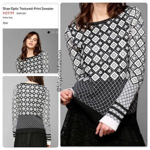 Urban Outfitters Shae Optic Textured Print Sweater