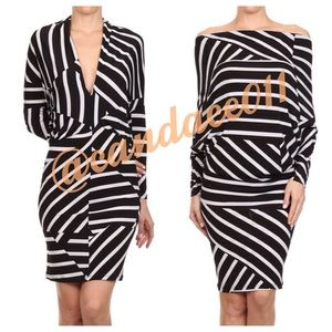 CC Boutique  Dresses & Skirts - 5 ⭐️ rated! Geometric Striped Convertible Dress
