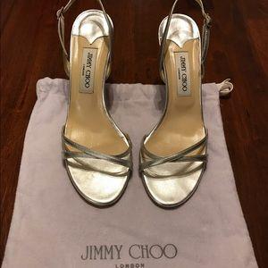 Jimmy Choo Shoes - Silver Jimmy Choo Heels