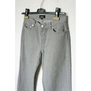A.P.C. Denim - A.P.C. Grey Straight Leg Jeans