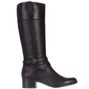 Bandolino Shoes - Bandolino Carlotta Black Leather Riding Boots
