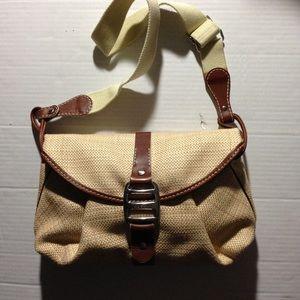 Hogan Handbags - Hogan Straw Shoulder bag w/ Brown Trim