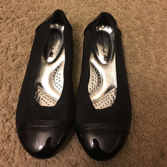 Girls Black Flat Dress Shoes Size
