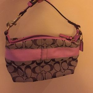 Authentic and rare Pink coach purse