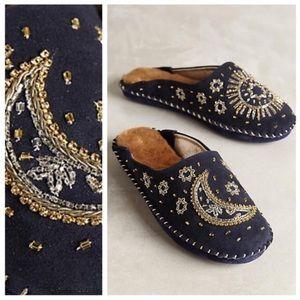 Anthropologie Shoes - Anthropologie Celestial Slippers by Jasper & Jeera