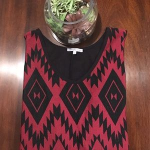 Charlotte Russe Tops - 🎉HP🎉Patterned Black & Red Blouse