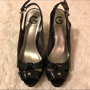 G by Guess Shoes - Black Patent Leather Heels