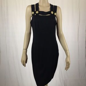 Dresses & Skirts - Vintage Black Dress with Gold Buttons