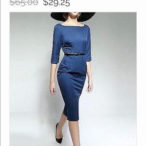 Curvy Couture Dresses & Skirts - Vintage Style Blue Dress NWT Size M