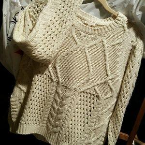 Sweaters - Mystree Cream Stitch Fix Cable Knit Sweater