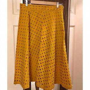 H&M Eyelet Midi Skirt