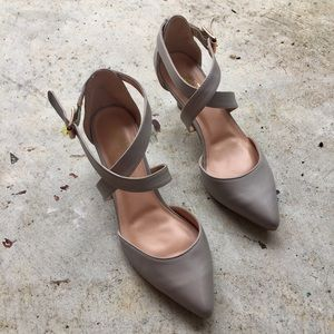 Journee Collection Shoes - Journee Collection Nude Gray Heels