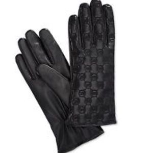 Michael Kors Accessories - NWT Michael Kors Black leather gloves with MK logo