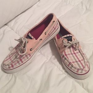 Sperry Top-Sider Pink & White Boat Shoes