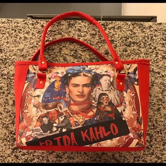 Frida Kahlo Red Purse