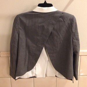 Cut25 by Yigal Azrouel gray open back blazer