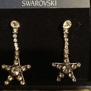 Swarovski Jewelry - New Authetic SWAROVSKI STAR HANGIN EARRINGS