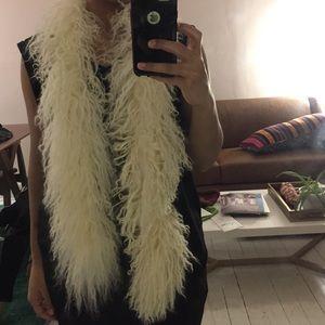 Accessories - 100% Mongolian fur wrap scarf stole