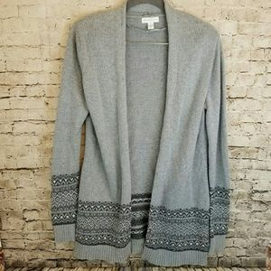 Charter Club Open Front Long Beaded Cardigan