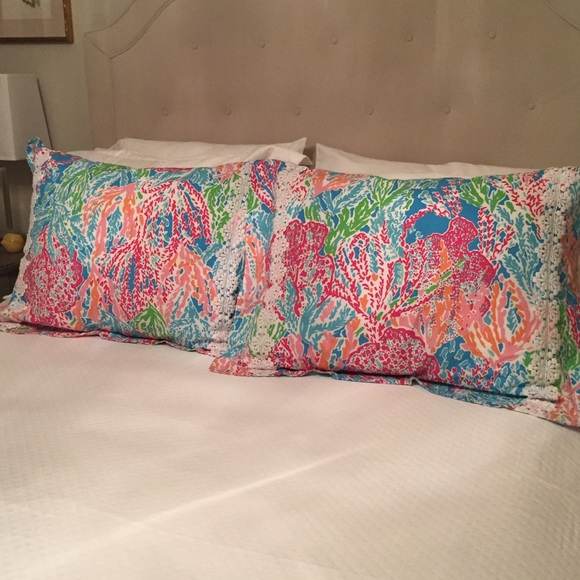 59 off Lilly Pulitzer Other Pillow Shams Pair In Lets Cha Cha