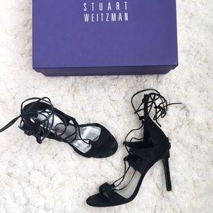 Stuart Weitzman leg wrap heels