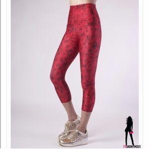 Emily Hsu Designs Pants - Emily Hsu Designs Red Roses Capri Pants S M L