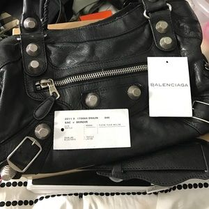 Balenciaga Handbags - Balenciaga city M black/silver hardware