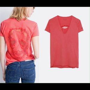 New Zadig & Voltaire Story Fishnet t-shirt skull