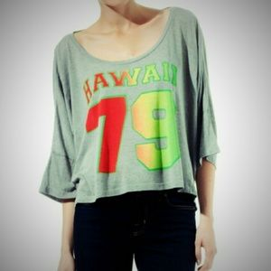 Wildfox Couture Tops - Wildfox Couture Hawaii 79 Harley Wide Tee