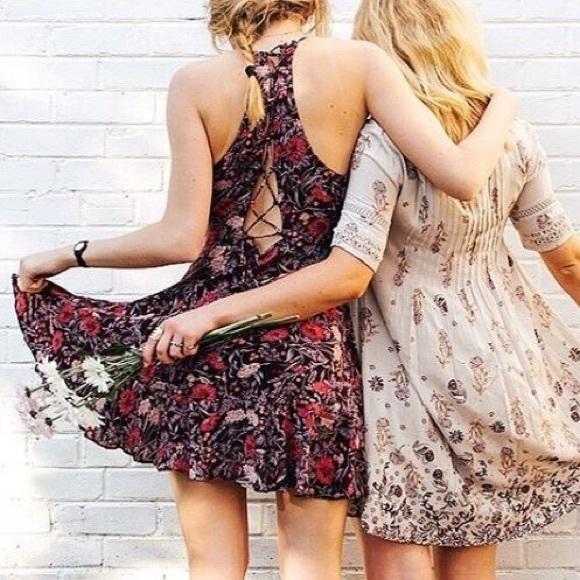 0035646a4e9 Floral Boho Ruffle Wrap Mini Summer Dress